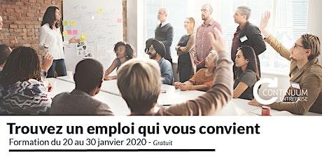 Continuum-Entreprise: Formation pour intégrer le marché du travail tickets