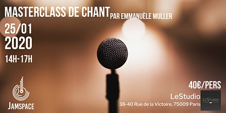 Masterclass de chant par Emmanuèle Muller billets