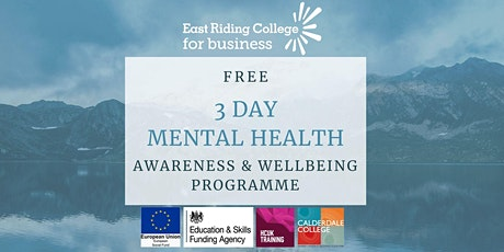 Bridlington FREE 3 Day Mental Health Awareness & Wellbeing Programme tickets