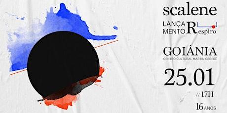 """Lançamento """"Respiro"""" Banda Scalene em Goiania + Manso + Chell ingressos"""