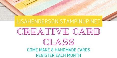 Creative Card Class tickets