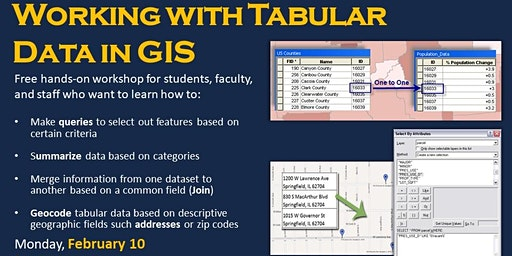 Working with Tabular Data (in ArcGIS Pro)--evening session