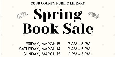 Cobb Library Spring 2020 Book Sale  tickets