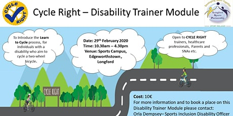 The CYCLE RIGHT Disability Trainer module tickets