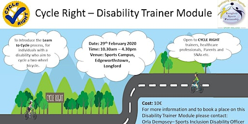 The CYCLE RIGHT Disability Trainer module