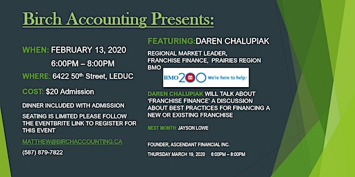 Birch Accounting Speaker Series - Daren Chalupiak