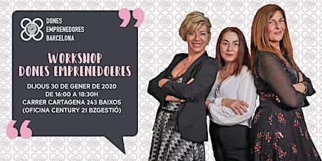 Workshop Dones Emprenedores Barcelona entradas