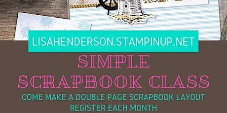 Simple Scrapbooking Class tickets