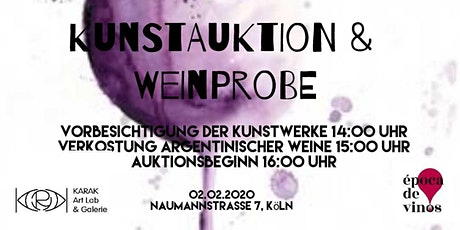 Kunstauktion & Weinprobe Tickets