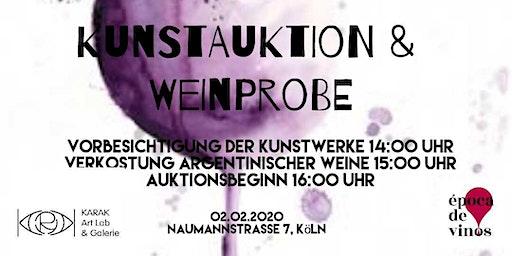 Kunstauktion & Weinprobe