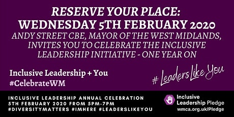 Inclusive Leadership Pledge Anniversary Event tickets