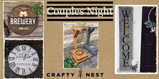 Couples Night February 22nd at The Crafty Nest DIY- Northborough