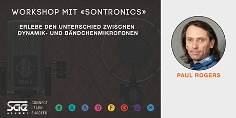 Erlebe den Unterschied zwischen  Dynamik- und BändchenMikrofonen Tickets