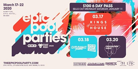 Epic Miami WMC Pool Parties - All Week Pass tickets