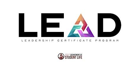 LEAD Certificate Program Series tickets