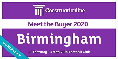 Birmingham Constructionline Meet the Buyer 2020 tickets