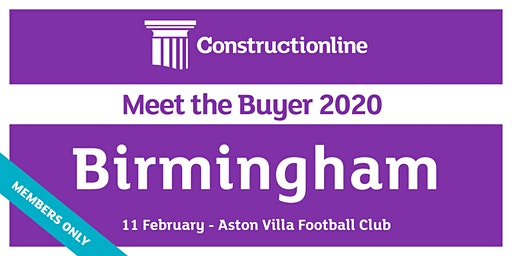 Birmingham Constructionline Meet the Buyer 2020