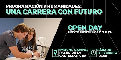 Open Day IMMUNE Technology Institute Madrid - Presentación del CEP entradas