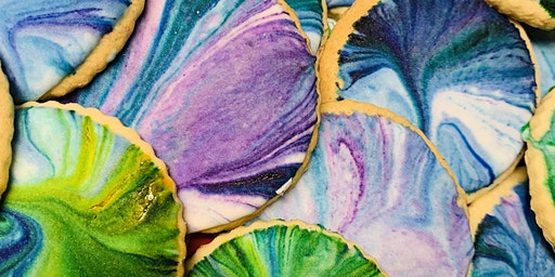 Marbling cookie decorating class