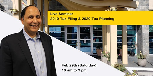 Live Event - 2019 Tax Filing & 2020 Tax Planning
