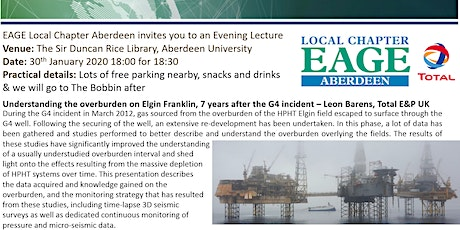 EAGE Aberdeen Local Chapter Lecture tickets