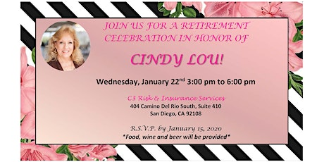 Cindy' Lou's Retirement Party tickets