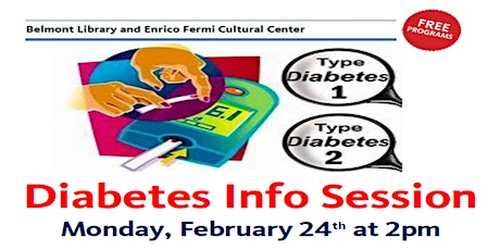 Diabetes Info Session at Belmont Library tickets