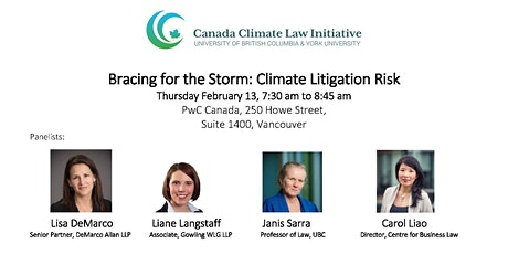 Bracing for the Storm: Climate Litigation Risk (breakfast will be provided) tickets