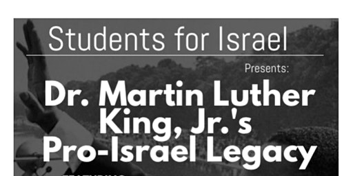Dr. Martin Luther King, Jr.'s. Pro-Israel Legacy -Free Dinner