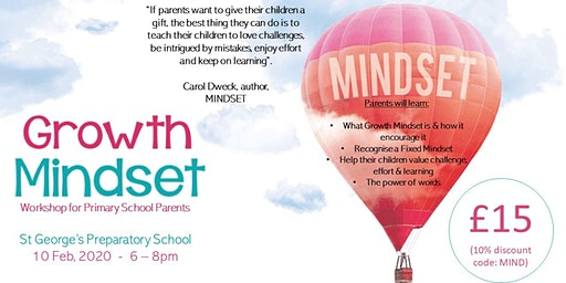 Growth Mindset Workshop For Primary Parents (St George's)
