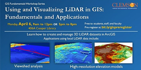Using and Visualizing LiDAR in GIS--evening session tickets
