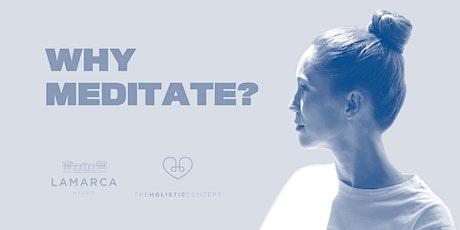 Why Meditate con The Holistic Concept entradas