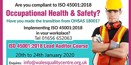ISO 45001 Occupational Health & Safety Lead Auditor Course tickets