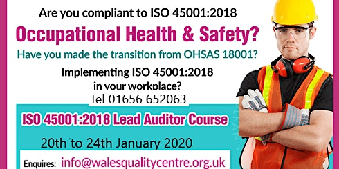 ISO 45001 Occupational Health & Safety Lead Auditor Course