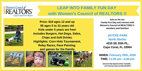 Leap Year Fundraiser & Family Fun Day! tickets