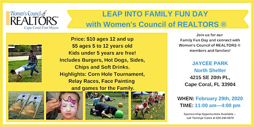 Leap Year Fundraiser & Family Fun Day!