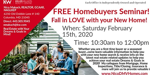 FREE Homebuyer's Seminar! Fall in LOVE with your NEW home!