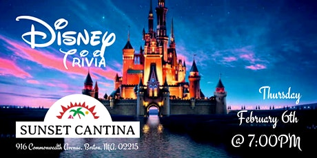 Disney Movie Trivia at Sunset Cantina tickets