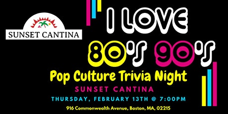 80s & 90s Pop Culture Trivia at Sunset Cantina tickets
