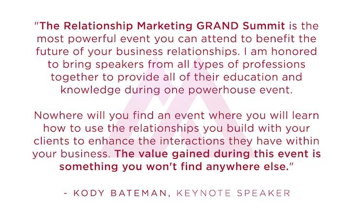 Relationship Marketing Grand Summit image