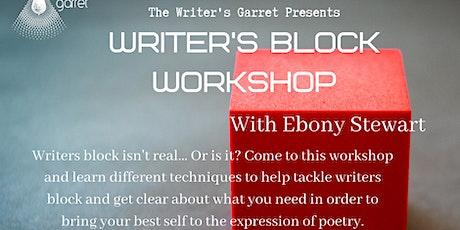 Writers Block Workshop with Ebony Stewart tickets