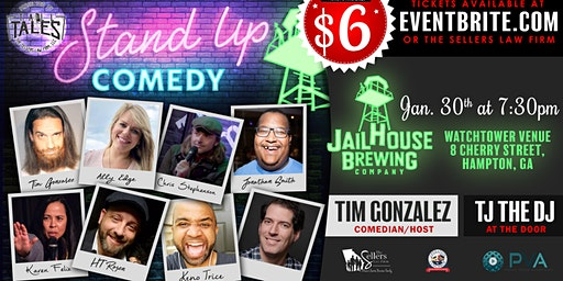 Tall Tales Stand-Up Comedy in The Watchtower at Jailhouse Brewery