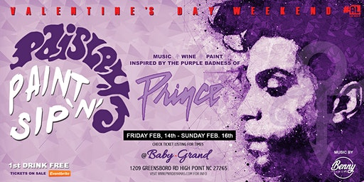 Paisley Paint 'N' Sip: Tribute To Prince (Valentine's WKND)