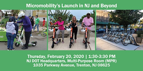 Micromobility's Launch in NJ and Beyond tickets