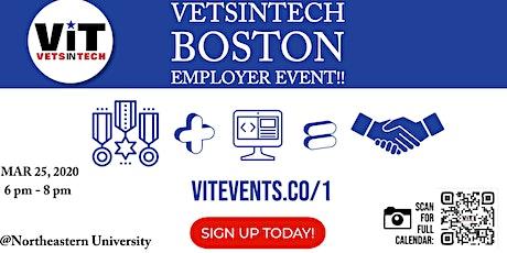 VetsinTech Boston Employer Event @Northeastern University!! tickets