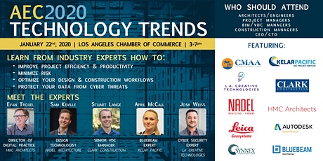 AEC2020 TECHNOLOGY TRENDS - Featuring Industry experts and networking mixer tickets