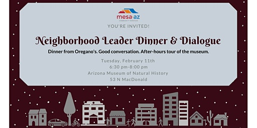 Neighborhood Leader Dinner & Dialogue