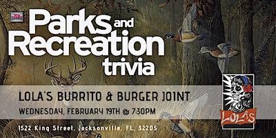 Parks & Rec Trivia at Lola's Burrito & Burger Joint