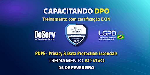 (AO VIVO) - EXIN® Privacy & Protection Essentials PDPE / LGPD (05 de FEV)