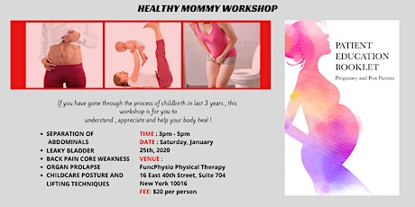 HEALTHY MOMMY WORKSHOP tickets